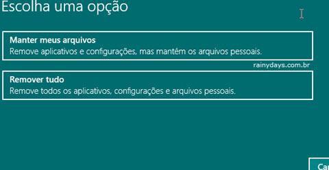 Restaurar Windows 10 para Configurações de Fábrica 3
