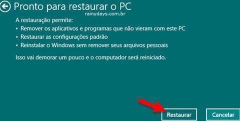 Restaurar Windows 10 para Configurações de Fábrica 5