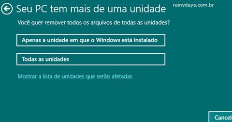 Restaurar Windows 10 para Configurações de Fábrica 6