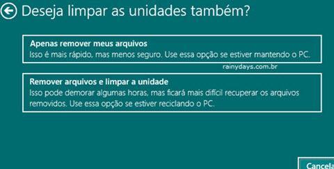Restaurar Windows 10 para Configurações de Fábrica 7