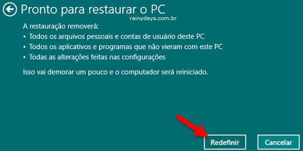Restaurar Windows 10 para Configurações de Fábrica