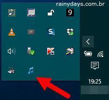 Trocar entre dispositivos de áudio do Windows