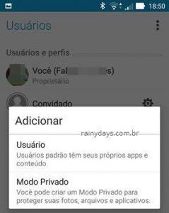 Como ativar usuário convidado no Android