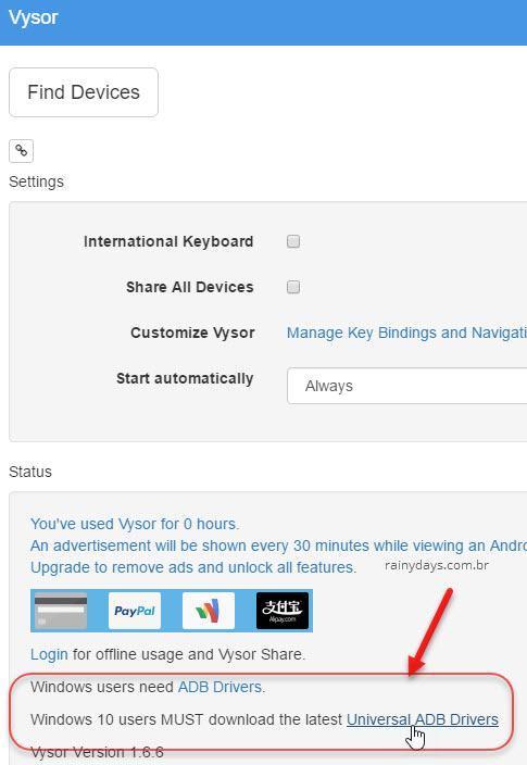 controlar Android pelo Chrome 1