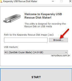 Como criar disco de recuperação do Kaspersky 3