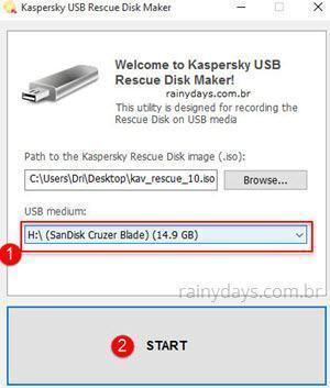 Como criar disco de recuperação do Kaspersky 5