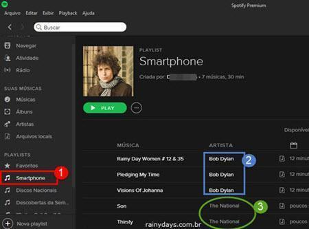 Criar playlists no Spotify para sincronizar com celular 5