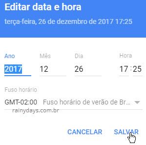 Editar data e hora específica Google Fotos