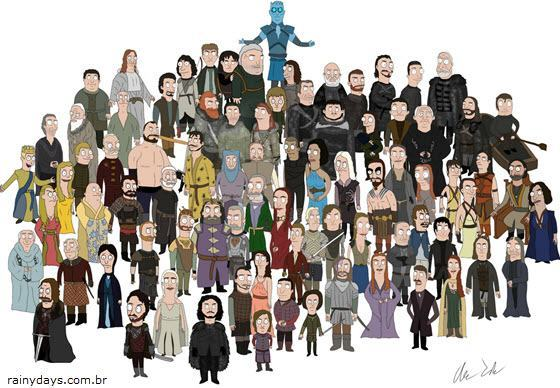 Personagens de Game of Thrones como Bob's Burgers