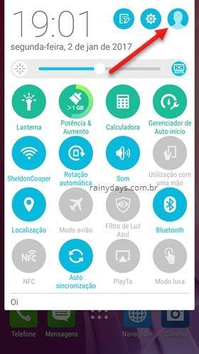 icone de usuário no Android gerenciar usuário