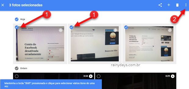 Como mudar data de fotos no Google Fotos
