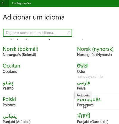 mudar idioma do Windows 10 (1)
