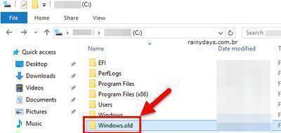 Como reverter instalação do Windows 10