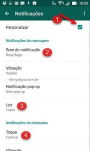 Personalizar som das notificações do WhatsApp