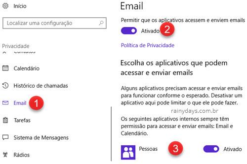 Privacidade Email Windows