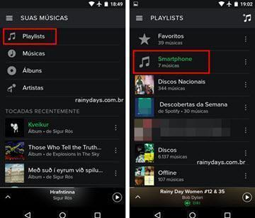 sincronizar músicas do Spotify no celular