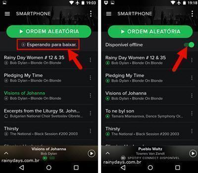 sincronizar músicas do Spotify no celular 3