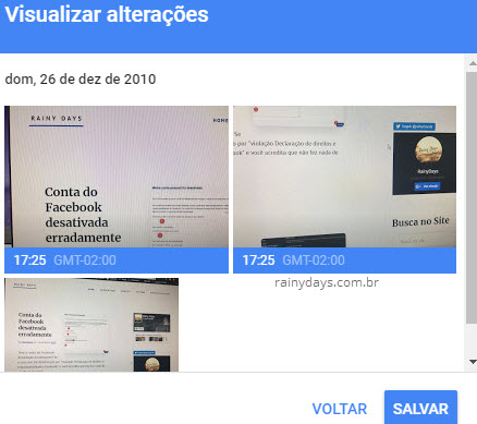 Visualizar alterações de datas das fotos Google Fotos