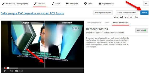Borrar Rostos no YouTube Facilmente