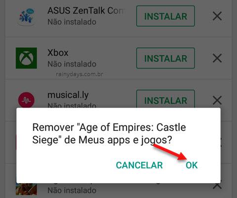 Como limpar lista de apps baixados na Google Play