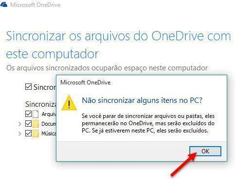 Configurar OneDrive para sincronizar pastas específicas 4