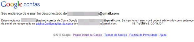 desvincular um email estranho da sua conta Google