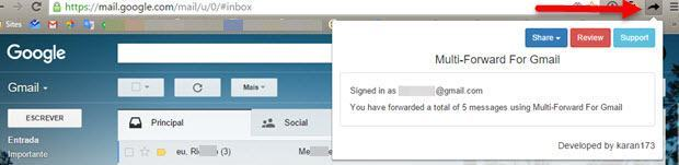 Encaminhar Vários Emails ao Mesmo Tempo no Gmail