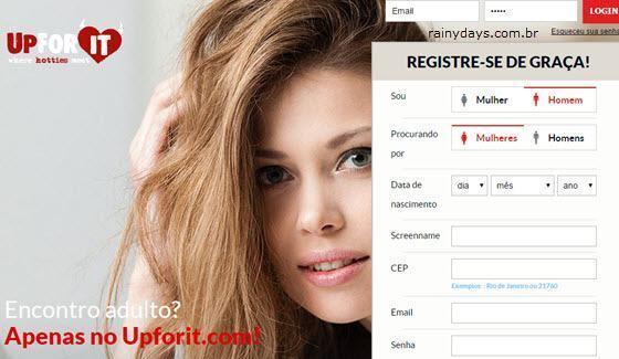 Página de login no Upforit, como excluir conta do Upforit
