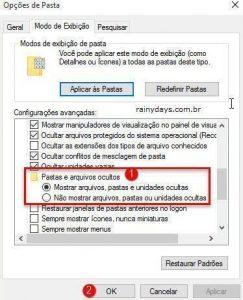 Como ver arquivos e pastas ocultas no Windows