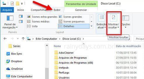 ver arquivos e pastas ocultas no Windows