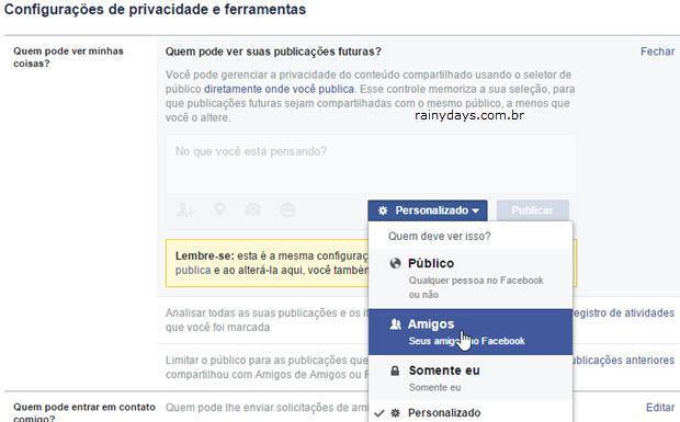 Verifique seus Posts do Facebook Search FYI