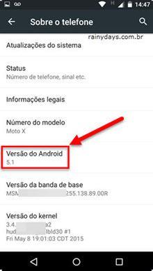 versão do Android