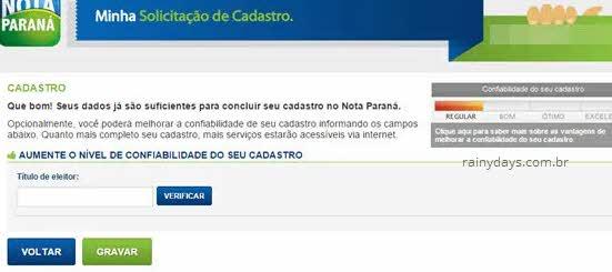 Aumentar confiabilidade no Nota Paraná
