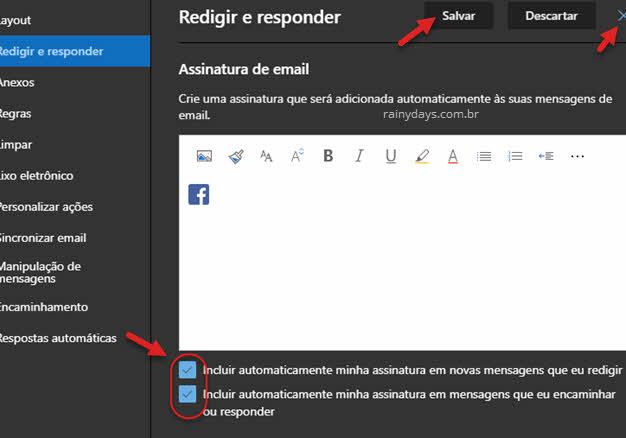 Como criar assinatura no Outlook com imagem