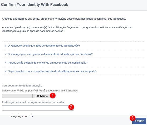 Conta do Facebook desativada por nome falso