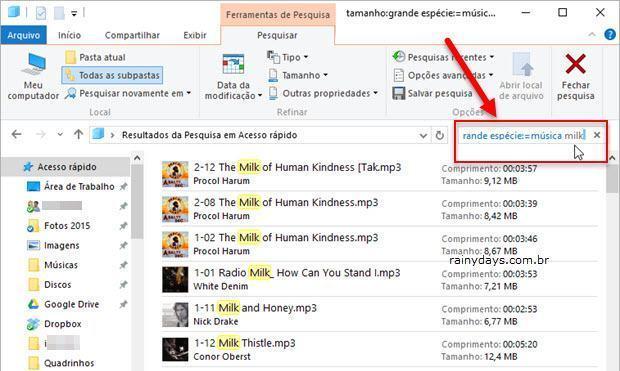 Filtrar Arquivos por Tamanho no Windows 10