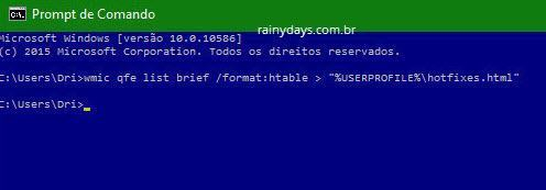 Como listar atualizações instaladas no Windows