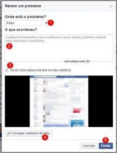 Como relatar problemas com fotos no Facebook