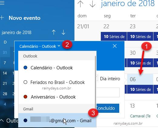 Sincronizar Google Agenda com app Calendário