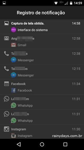 Ver Histórico de Notificação do Android