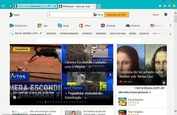 abrir o Internet Explorer no Windows 10