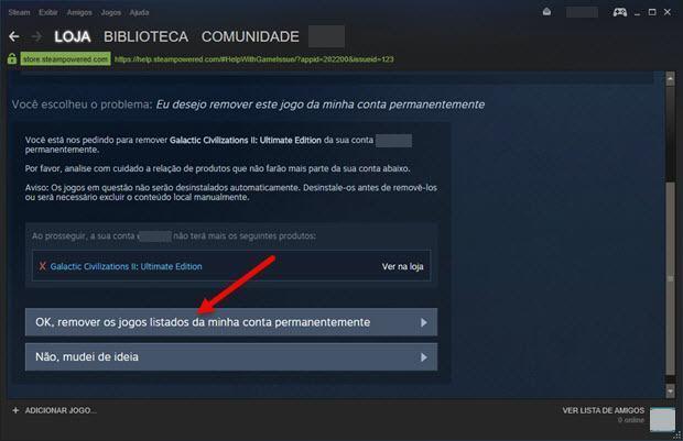 apagar permanentemente um jogo da Steam