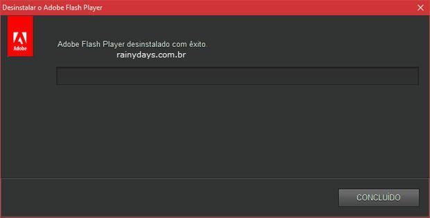 desinstalar o Flash Player
