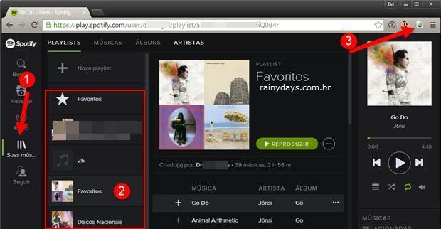exportar playlists do Spotify