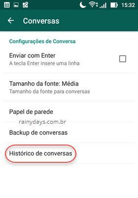 Histórico de Conversas do WhatsApp