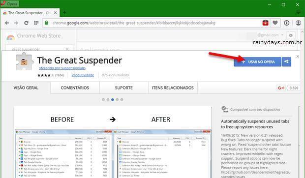 Instalar Extensões do Chrome no Opera