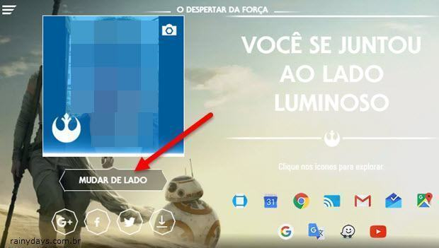 Remover o Tema do Star Wars da Conta Google