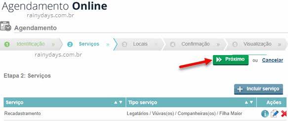 Serviços Rioprevidência agendamento online