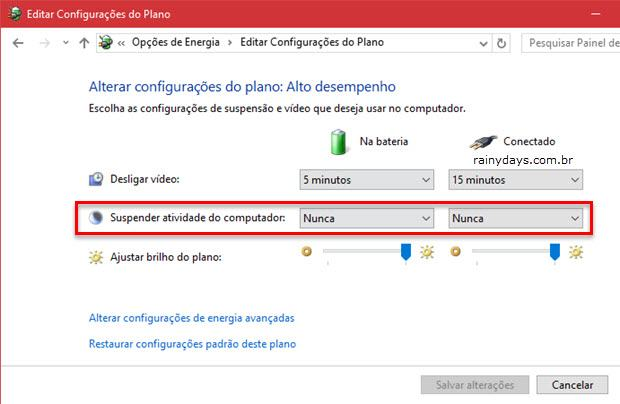 Desligamento automático do Windows 1
