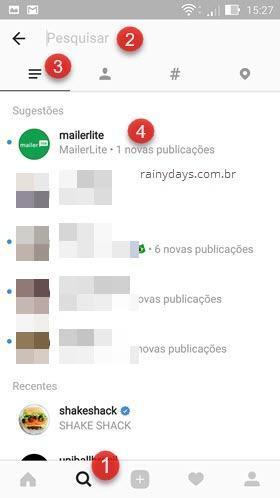 esconder sugestões Principais Instagram no Android